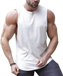 gawaga ノースリーブ無地筋肉シャツ