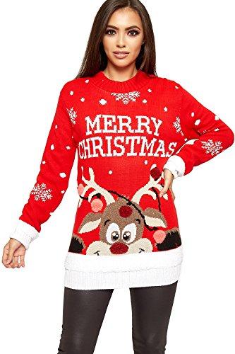 Pull de Noël renne pour femme