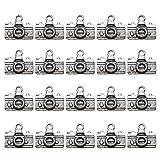 tendycoco 20pcs forma di macchina fotografica risultati dei monili braccialetto in lega collana di fascini fai da te monili che fanno forme pendente (argento antico)