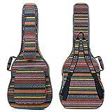 CAHAYA ギターケース ネックピロー付属 16.6mmスポンジ 5つの大容量ポケット リュック型 軽量タイプ セミハード ギターバッグ 軽防水 エキゾチックスタイル Guitar Case (101.6/104.2/106.7cmのギターに対応)