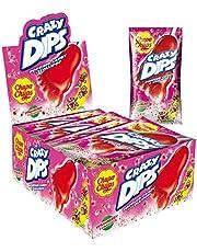 Chupa Chups Crazy Dips | Erdbeer-Lollis mit Brausepulver und Knistereffekt