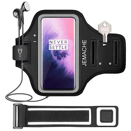 Tupsky Sportarmband für OnePlus 7 Pro, wasserabweisend, mit Schlüssel-/Kartenhalter