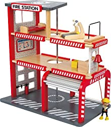 Puppenhaus für Jungs - Hape Feuerwehrwache - Kidkraft Helden des Alltags