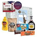 Boîte cadeau Premium Mode de vie américain I Cuisine américaine Classics I cadeau pour les fans de l'Amérique I Bonbons & BBQ à l'essai