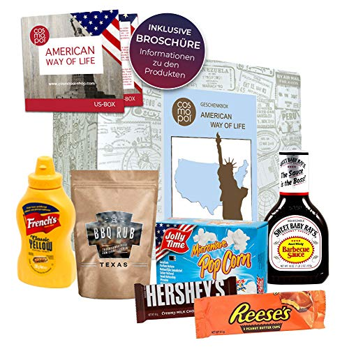 Premium Gift Box American Way of Life I American Food Classics I Gift for America Fans IN USA Sweets & BBQ in Trial Set caja de regalo cumpleaños navidad