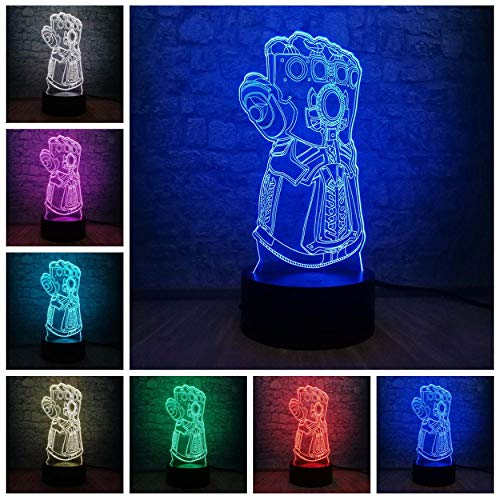 Verras de Avengers Big Villain Thanos handschoenen 3D nachtlampjes LED veranderen creatieve bureaulamp Kid geschenk Teen Room Decor Drop Ship