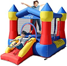 AirMyFun Inflatable Bounce Jumper House with Air Blower, Jump Slide, Kids Castle Party Theme Bounce House with Durable Safe Sewn Indoor Outdoor, 82011A