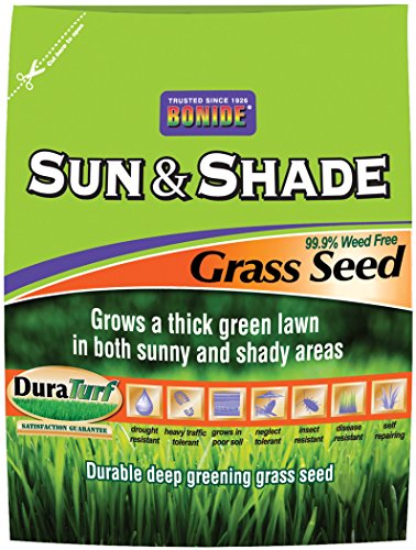 BONIDE Grass Seed 60227 009053 Sun and Shade Grass Seed, 20 lb