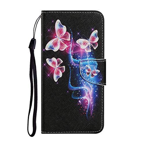 Funda para teléfono Samsung A32 4G Creativa Cover Case Funda con tapa de piel sintética resistente a los golpes, diseño de mariposas