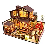 ZHBB Kit de casa de muñecas de madera para bricolaje casa de muñecas en miniatura con muebles de casa de muñecas, regalo para niña
