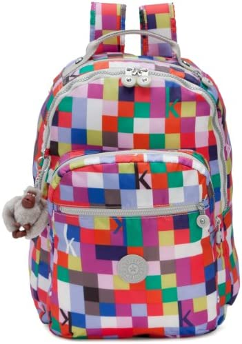 Kipling Seoul Printed Large Backpack With Laptop Protection Ksqrd Pink One Size product image