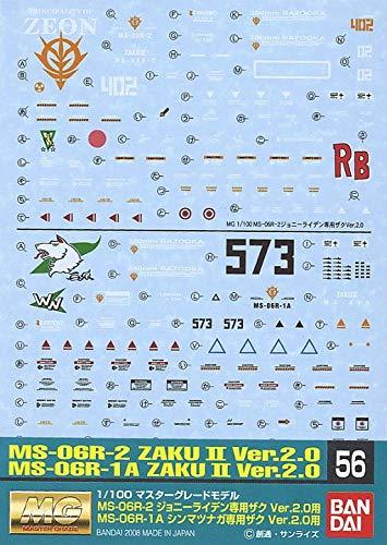 GUNDAM DECAL 56 MG ZAKU MATSUNAGA/RIDDEN
