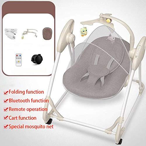 ZWQ kids Automatique à Bascule bébé Chaise, Chaise bébé Confort transat Berceau électrique, agitateur à Bascule Enfant Nouveau-né pour 0-2 bébé,A