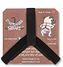 Dog Diaper and Belly Band Stretchable Straps | Dog Diaper Suspenders | Hold Dog Diapers and Belly Bands in Place | No Sliding Off