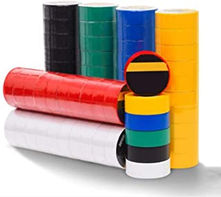 LJ Insulation Tape ,10volumes Electrical Adhesive PVC Tapefor Auto Vehicle and Cables Electrical Tape Flame Retardant Electrical (Size : Greey 10 volumes)