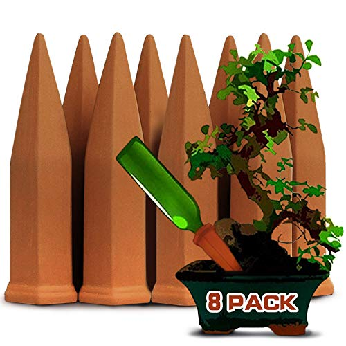 DCZTELG Plant Watering Devices Self Watering Planter Drip Irrigation Watering Care Your Flower Travel Forgetting Potted Plants (TC8-pack)