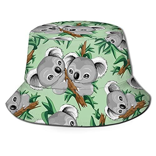 Wardrobe color Sombrero de cubo de moda, sombrero lindo del sol del bebé de Koala lindo al aire libre plegable de ala ancha sombrero de pescador