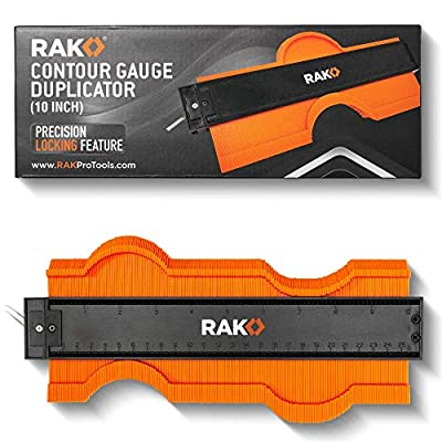 RAK Contour Gauge Shape Duplicator (10 Inch Lock) Template Tool with Adjustable Lock Precisely Copies Irregular and Awkward Shapes - Must Have Tool for DIY Handyman, Construction from RAK Pro Tools
