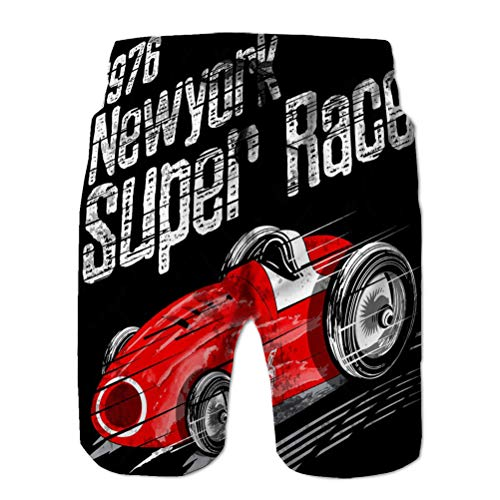 Casual Sportswear Men 's Swim Trunks Beach Shorts for Boys American Car Race Vintage Classic Retro Man Graphic Fashion Style
