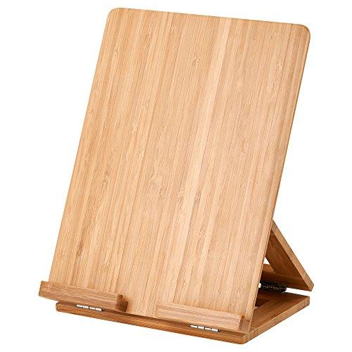 GRIMAR Soporte de la tableta Soporte de madera ajustable con bisagras tres ángulos IKEA
