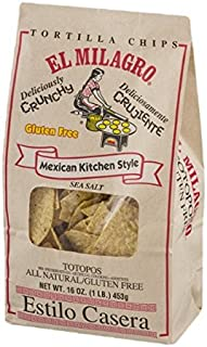 El Milagro Mexican Kitchen Style Gluten Free Tortilla Chips 16 oz (Pack of 3)