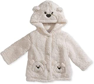 0b4f25e5c0d First Impressions Baby Girls  Ivory Bear Sherpa Hoodie (6-12 Months)