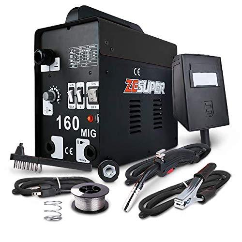 ZESUPER 160 MIG Welder DC IGBT Inverter Welding Machine Flux Core Wire Gasless Automatic Feed Welder Free Mask 110V. Buy it now for 163.90