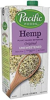 12-Pack Pacific Foods Hemp Original Unsweetened Plant-Based Milk