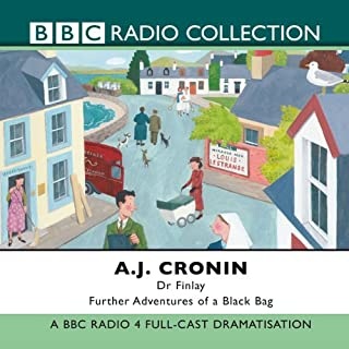 Dr Finlay: Further Adventures of a Black Bag                   By:                                                                                                                                 A. J. Cronin                               Narrated by:                                                                                                                                 David Ashton                      Length: 2 hrs and 47 mins     24 ratings     Overall 4.6