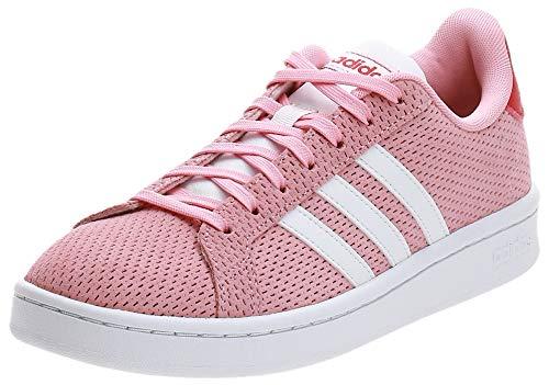 adidas Grand Court, Scarpe da Tennis Donna, Rosa Gloria/Bianco Ftwr/Rosso Gloria, 36 2/3 EU