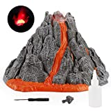 HEITIGN Simulation Vulkanausbruch Modell, DIY Handgemachte Vulkan Spielzeug für Kinder DIY Vulkan Modell Spielzeug Geburtstagsgeschenke für Kinder Party Gefälligkeiten, Lebendige Vulkan Modell