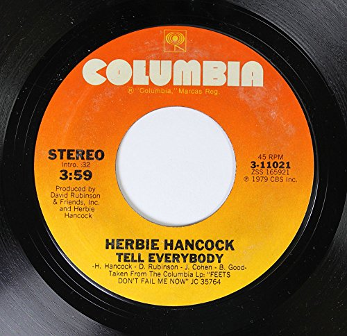 Herbie Hancock 45 RPM Tell Everybody / Honey From The Jar