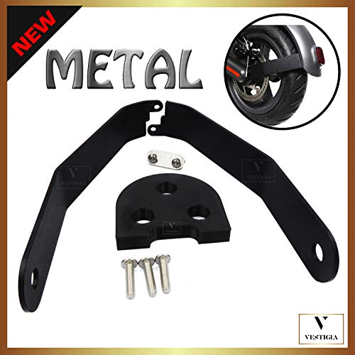 Vestigia - Soporte de Aluminio para Guardabarros de Xiaomi M365 / Pro Scooter, Kits de Modificación, M365 Accesorios, Patinete Electrico, Accesorios Xiaomi Mijia M365 (Negro)