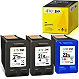 ATOPINK Remanufactured Ink Cartridge Replacement for 21 22 21XL 22XL Work with HP Officejet 4315 4350 J3680 Deskjet F2210 F4180 F380 F300 F4140 F4315 D1455 D2460 PSC 1410 Printer(2 Black,1 Tri-Color)