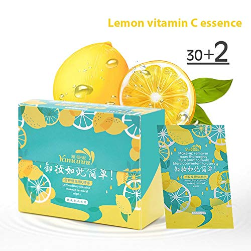 Metermall New for Make-up Removal Disposable Wipes Lemon Vitamin C Essence Make-up Remover Wipes