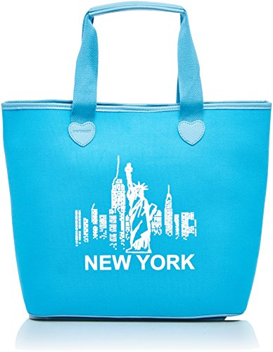 Twin Set As8pna, Borsa a spalla Donna, (St.New York Turchese), 15x36x34 cm (W x H x L)