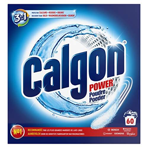 Calgon 3in1 Power Poeder, Wasmachine Reiniger tegen Kalk, Wasmiddelresiduen en Geurtjes, 1.5 kg, voor 60 wasbeurten