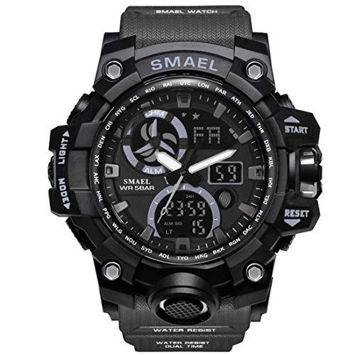 SMAEL Women Men Unisex Reloj De Pulsera Sporty-Military Plastic Quartz Analogous-Digital SL-1545C