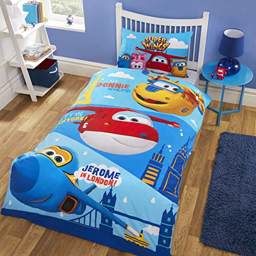 Super Wings Duvet Set, POLYCOTTON, Multi, SINGLE