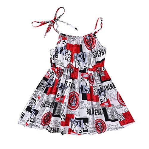 Allence Baby-Mädchen Kleid Bunt Druck Tanktop Kleid Mädchen blusen Dress Sommer Säugling Strand Baumwolle Drucken Kleider, 0-24 Monate