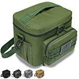 DBTAC Tactical Lunch Bag, Large Insulated Lunch Box for Men Women Adult | Durable School Lunch Pail for Kids | Leakproof Lunch Cooler Tote for Work Office Travel | Soft Easy-Clean Liner x2, OD Green