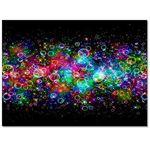 Area Rugs Christmas Theme Colorful Bubble Purple Green Non-Slip Backing Floor Carpet for Living Room Bedroom Soft Runner Rug Indoor Mat for Nursery Dining Room 2' x 3'