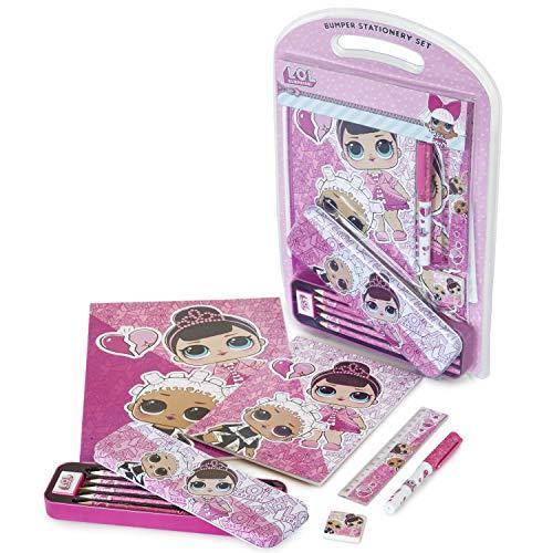 L.O.L Surprise ! Schreibset, Schreibstifte Für Mädchen, Lol Puppen Schreibset Für Kinder Mit Kawaii Federmäppchen, Mode-Zubehör Für Die Schule, Wunderschöne Geschenke Für LOL Fans