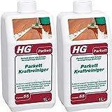 Gardopia Sparpaket: HG Parkett Kraftreiniger 2x 1 Liter - extra starkes Parkettreinigungsmittel, sicher für die Lackschicht