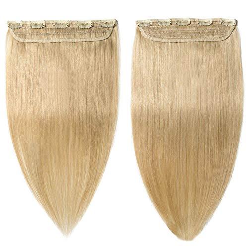 Forever Young Extensions de cheveux humains à clipser Blond clair 613# 40 g – 100 g (61 cm – 60 g)