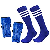 Youth Shin Guards Soccer Protective Gear Pad for Kids Cotton Long Sock Sleeve Football Board Equipment Fit 5-10 Years Old Boys Girls