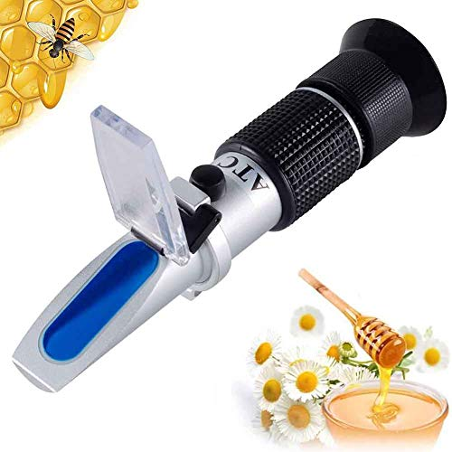 xfy-01 Portátil Refractómetro ATC Medidor de Concentración de Miel para Agua, Contenido de Azúcar, Brix, 58-92% de Agua, 10-33% Herramienta Manual