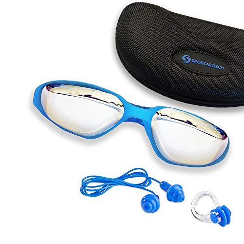 Sportastisch Training Freizeit Schwimmbrille AUS SPITZENSPORTLER Test¹ Aquatically, Anti-Fog Beschichtungg & UV-Schutz, Für Erwachsene Herren Damen Kinder, Bonus E-Book & biszu 3 Jahren Garantie²