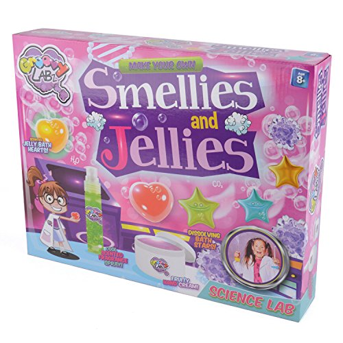 Groovy Labz – Smellies and Jellies – Kit de Créations Gélatineuse et Odorante Version Anglaise