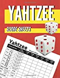 Yahtzee Score Sheets: Yahtzee Score pads, Yahtzee Score Book, Dice Board Game, Yatzee Score Cards Game Record Score Keeper Book | 120 Large Score ... 8.5 x 11 inches (Yahtzee Score Card)